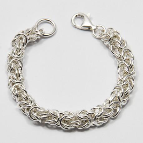 Braccialetto - Bracciale Argento 925‰ a Catena Maglia Bizantina - lavorazione a mano (Handmade) - Made in Italy