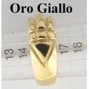 Anello di RA oro Giallo - Anello del Re, Anello di Atlantide, Anello di Karnak, Anello Luxor - Reiki