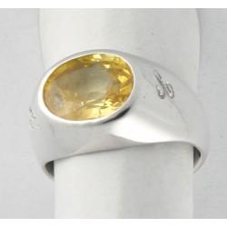 Anello in Oro con Zaffiro Giallo (Corindone Giallo)