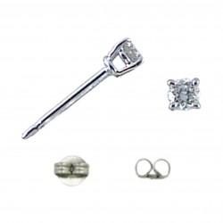 Orecchini con Diamante Brillante - PuntoLuce Griffe Oro Bianco 750/1000 (18 Kt)