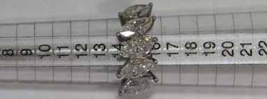 Anello in Platino con Diamanti taglio Marquise